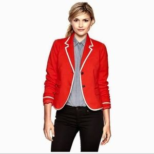 GAP The Academy Blazer Red Orange Blazer Jacket